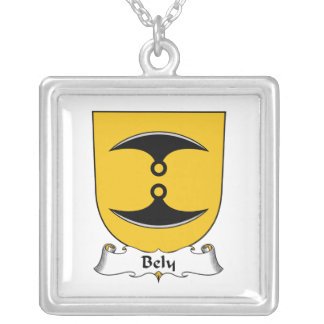 Bely Family Crest Square Pendant Necklace