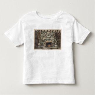 Bemidji, MN - View of the Fireplace of States Toddler T-shirt
