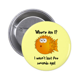 Bemused and Surprised Puffer Fish - funny sayings Pin