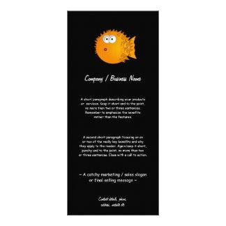Bemused Puffer Fish Rack Card