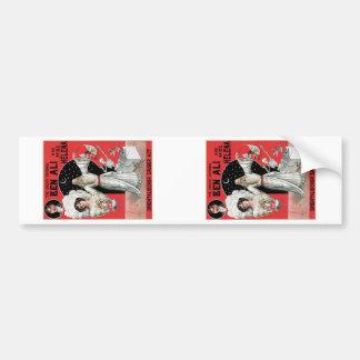 Ben Ali ~ Illusionist Magician Vintage Magic Act Car Bumper Sticker