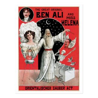 Ben Ali ~ Illusionist Magician Vintage Magic Act Postcard