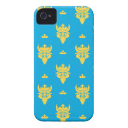 Case-Mate iPhone 4 Barely There Universal Case with Prince Ben Beast Royal Pattern design