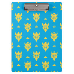 Clipboard with Prince Ben Beast Royal Pattern design