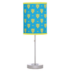 Table Lamp with Prince Ben Beast Royal Pattern design