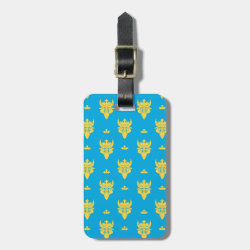 Small Luggage Tag with leather strap with Prince Ben Beast Royal Pattern design