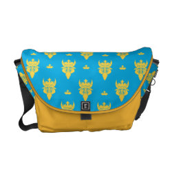 Rickshaw Medium Zero Messenger Bag with Prince Ben Beast Royal Pattern design