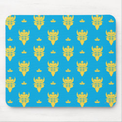 Mousepad with Prince Ben Beast Royal Pattern design