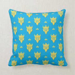 Cotton Throw Pillow with Prince Ben Beast Royal Pattern design