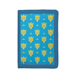 TriFold Nylon Wallet with Prince Ben Beast Royal Pattern design