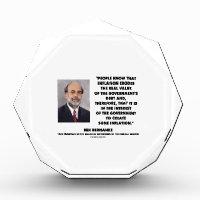 Ben Bernanke Inflation Erodes Real Value Govt Debt Award
