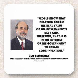 Ben Bernanke Inflation Erodes Real Value Govt Debt Coaster