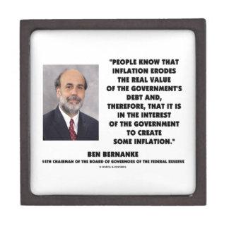 Ben Bernanke Inflation Erodes Real Value Govt Debt Gift Box