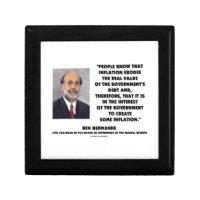 Ben Bernanke Inflation Erodes Real Value Govt Debt Keepsake Boxes