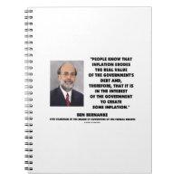 Ben Bernanke Inflation Erodes Real Value Govt Debt Note Book