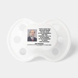 Ben Bernanke Inflation Erodes Real Value Govt Debt Pacifier