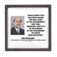 Ben Bernanke Inflation Erodes Real Value Govt Debt Premium Gift Box