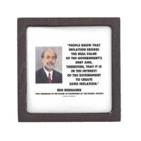 Ben Bernanke Inflation Erodes Real Value Govt Debt Premium Jewelry Box