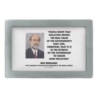 Ben Bernanke Inflation Erodes Real Value Govt Debt Rectangular Belt Buckles