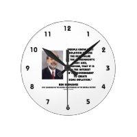 Ben Bernanke Inflation Erodes Real Value Govt Debt Round Wall Clock