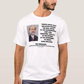 Ben Bernanke Inflation Erodes Real Value Govt Debt T-Shirt