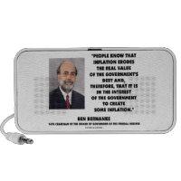 Ben Bernanke Inflation Erodes Real Value Govt Debt Travelling Speakers