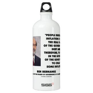 Ben Bernanke Inflation Erodes Real Value Govt Debt Water Bottle