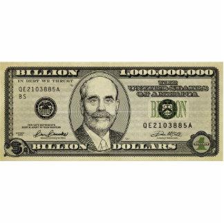 Ben Bernanke mil millones esculturas de la impresi Fotoescultura Vertical