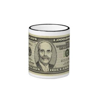 Ben Bernanke mil millones tazas del billete de