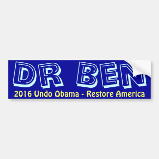 Ben Carson 2016 Bumper Sticker - Restore America Car Bumper Sticker