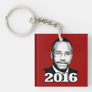 BEN CARSON 2016 CANDIDATE Double-Sided SQUARE ACRYLIC KEYCHAIN