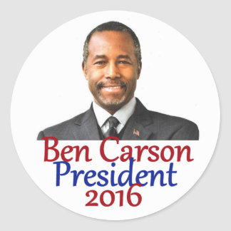 Ben CARSON 2016 Classic Round Sticker