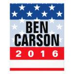 """Ben Carson 2016 Political Conservative 4.5"""" X 5.6"""" Flyer"""