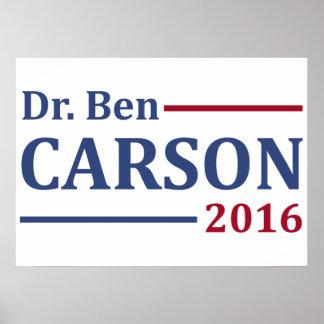 Ben Carson 2016 Poster