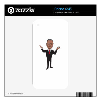 Ben Carson 2016 Republican Candidate Cartoon Decals For iPhone 4S