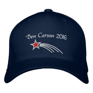 Ben Carson 2016 Shooting Star Embroidered Hat