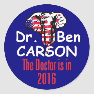 Ben CARSON 2016 Round Stickers