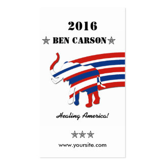 Ben Carson Double-Sided Standard Business Cards (Pack Of 100)
