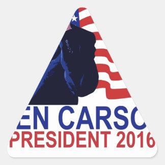 BEN CARSON FOR PRESIDENT 2016 CUTE Tee Shirts '.pn Triangle Sticker