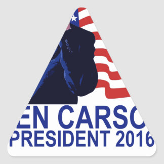 BEN CARSON FOR PRESIDENT 2016 CUTE Tee Shirts .png Triangle Sticker