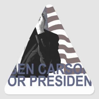 BEN CARSON FOR PRESIDENT 2016 CUTE Tee Shirts ';'. Triangle Sticker