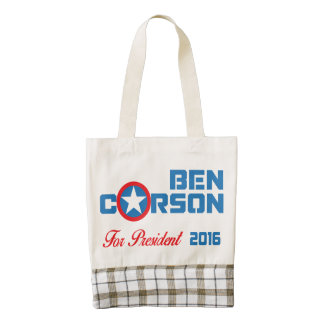 Ben Carson For President 2016 Zazzle HEART Tote Bag