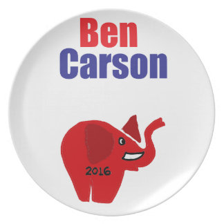 Ben Carson for President Design Party Plate