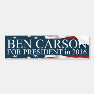 Ben Carson for President in 2016 Bumper Sticker