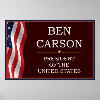 Ben Carson for President V3 Poster