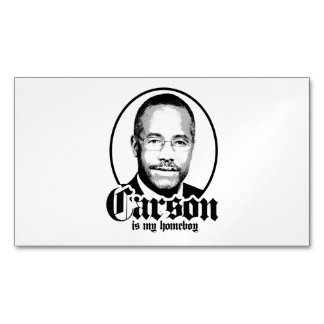 Ben Carson is my Homeboy Magnetic Business Cards (Pack Of 25)