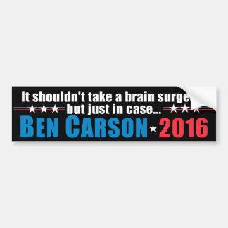 Ben Carson - no debe tomar a un cirujano de Pegatina Para Auto