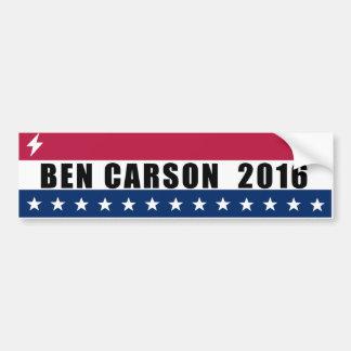 Ben Carson para el presidente 2016 Pegatina Para Coche