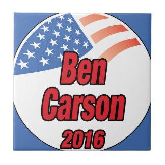 Ben Carson para el presidente en 2016 Azulejo Cuadrado Pequeño