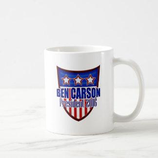 Ben Carson para el presidente - escudo moderno Taza